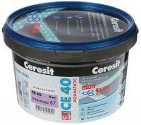 Затирка Ceresit CE40 Aquastatic белая, серая, цветная